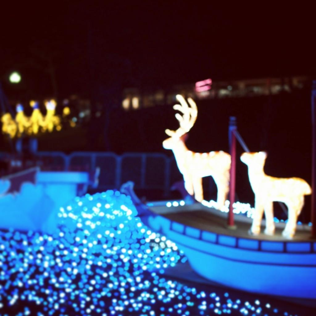 なら瑠璃絵 鹿 led イルミネーション