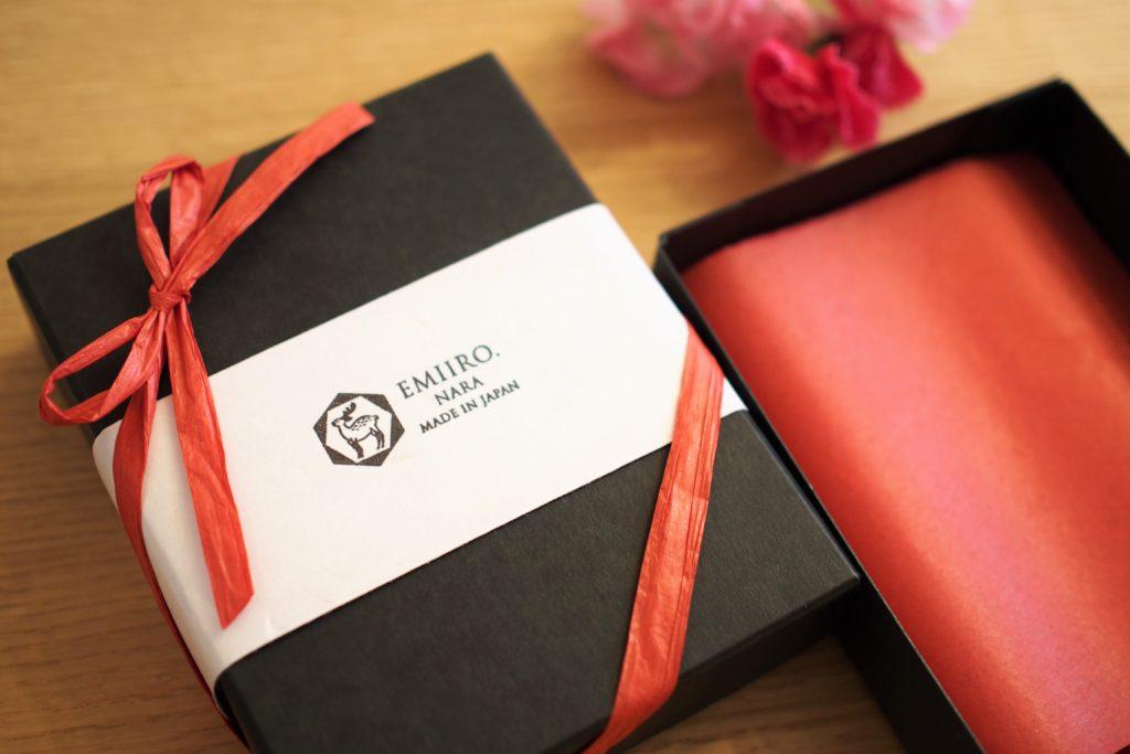 奈良のレザーブランド プレゼントBOX