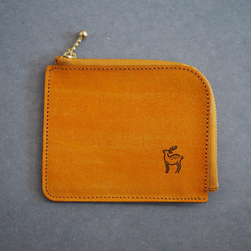 L字ファスナー財布 日本の伝統色シリーズ 柑子色